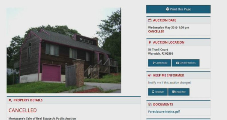 vinny paz house auction cancelled