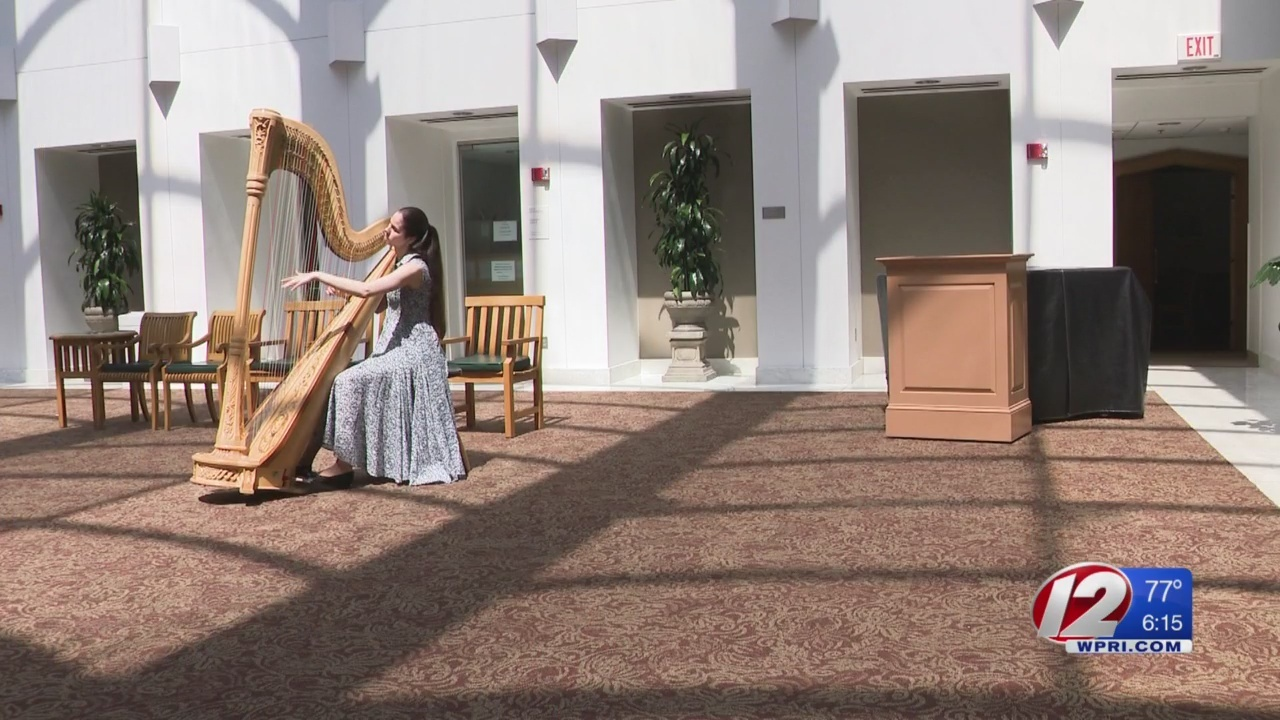 Music as medicine from young harp player