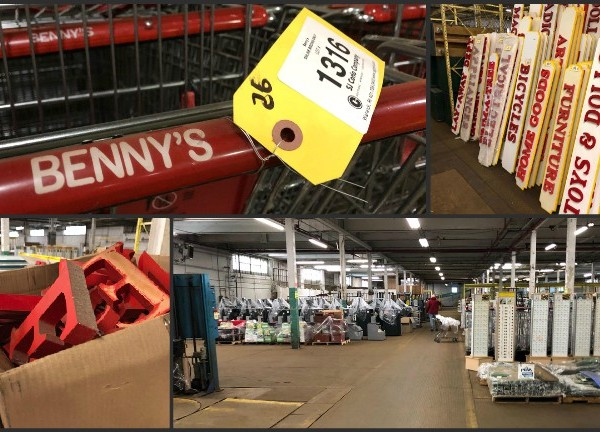 Benny's auction collage