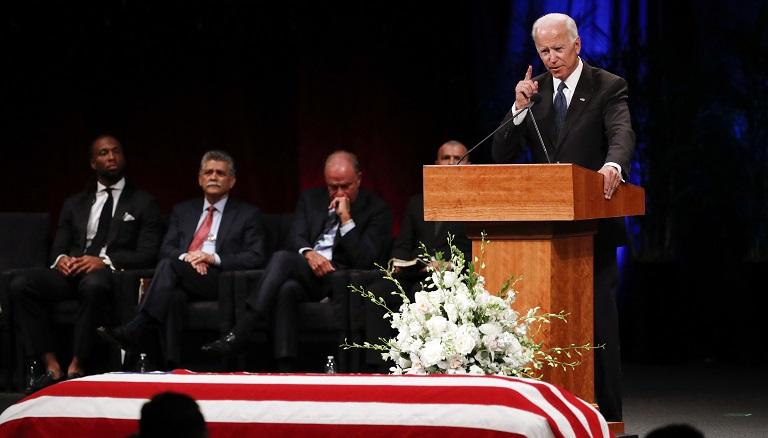 AP Joe Biden John McCain memorial