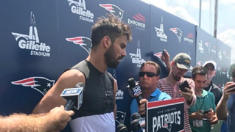 Patriots training camp 2018 Eric Decker