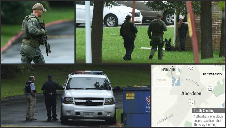 Maryland shooting collage