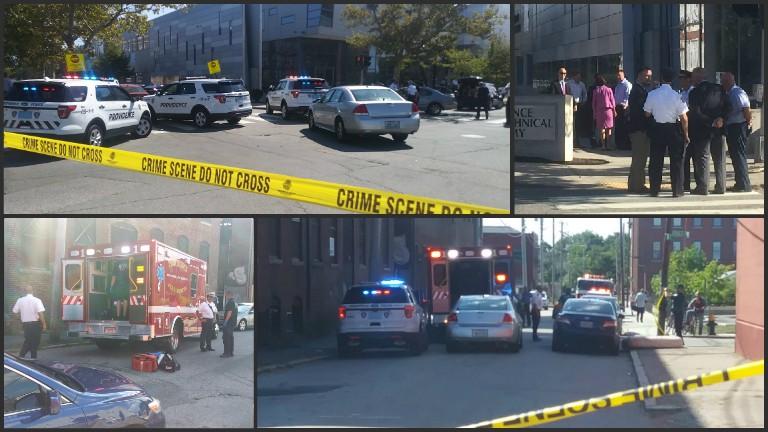 Providence shooting scenes Fricker Street Sprague Street