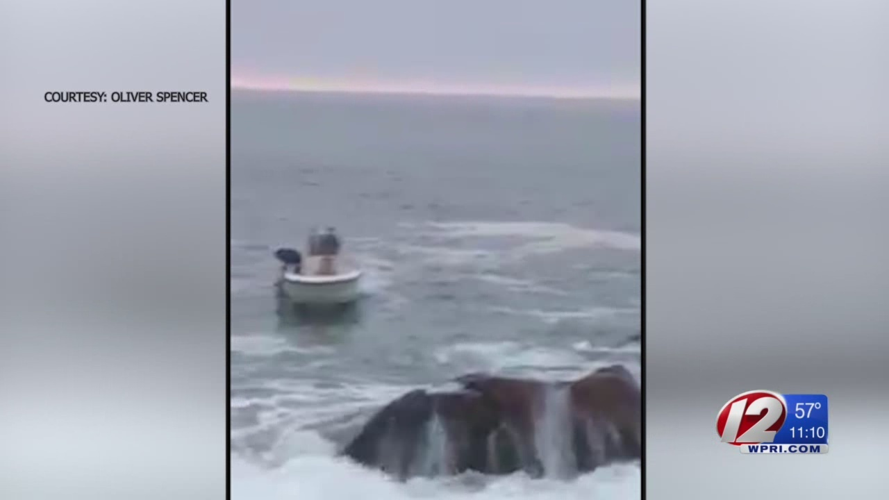 Fisherman rescued after being swept off rocks in Narragansett