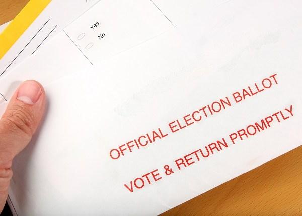 Mail ballot