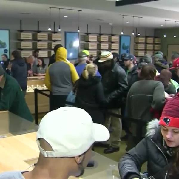 Web Extra: Police chief discusses crowds at pot shops