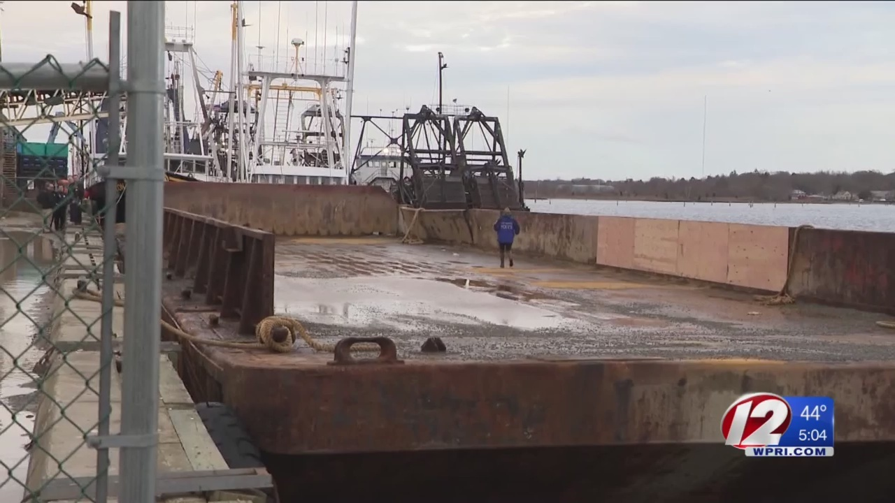 Barge capsizes in New Bedford Harbor