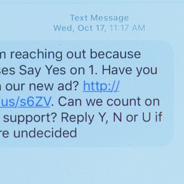 Campaigns using text messages to lure in voters