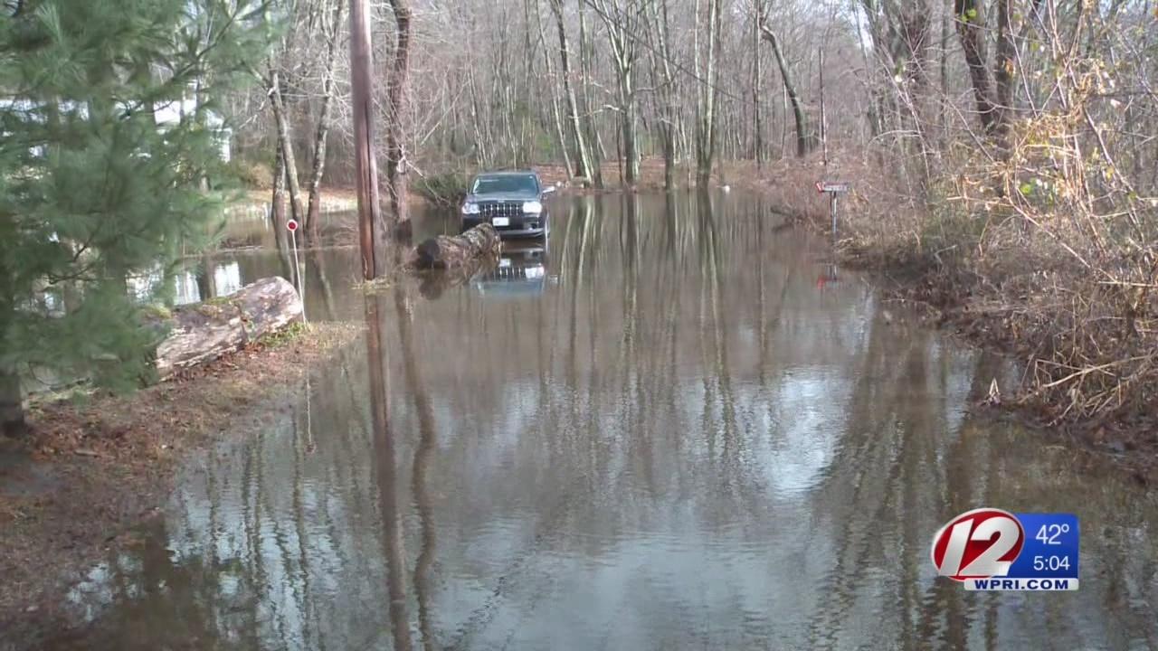 Flood waters inundate Johnston neighborhood