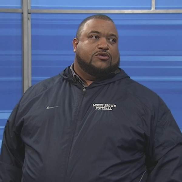 Moses Brown Head Coach Willie Edwards talks playoff preps