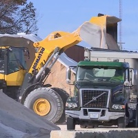 Salt trucks preparing for upcoming snowfall