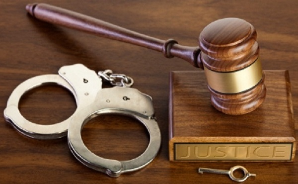 Generic gavel and handcuffs
