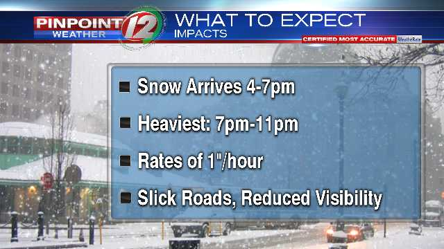 Difficult Travel This Evening as Wintry Weather Moves In