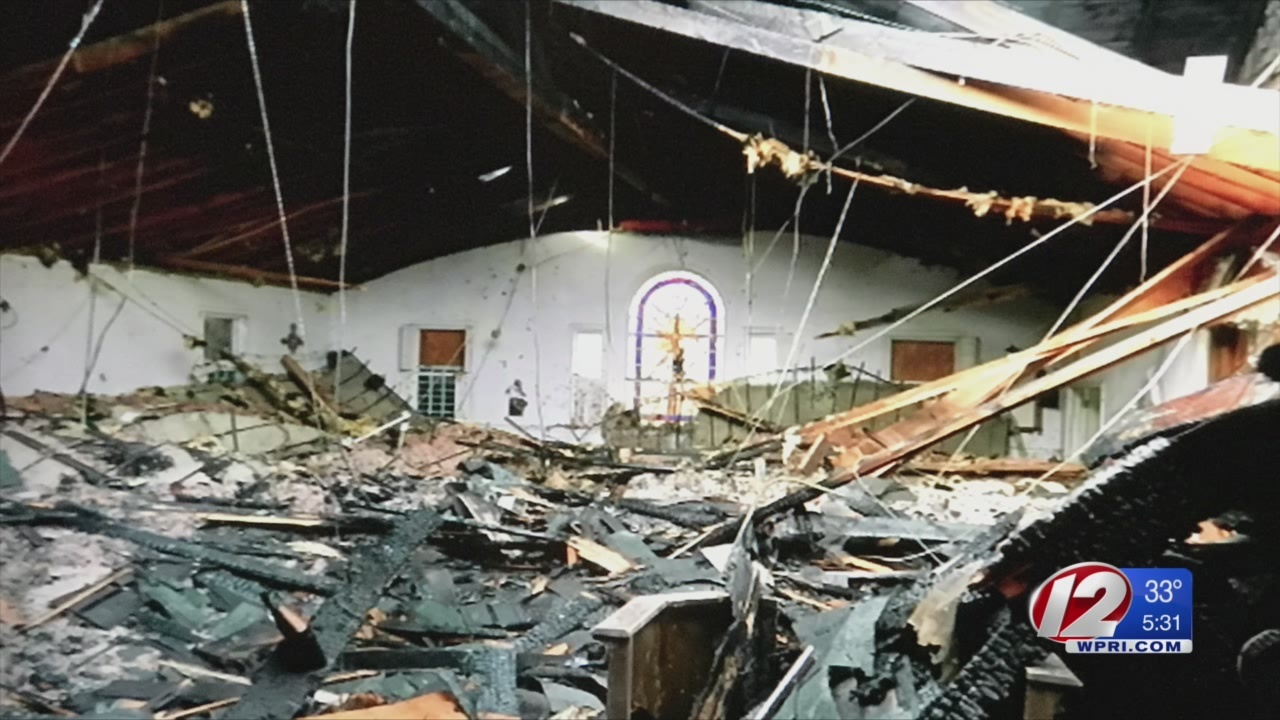 Parishioners of Warwick church destroyed by fire optimistic about future