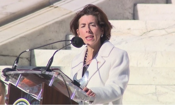 Raimondo sworn in for 2nd term; wants RI to be 'a beacon of hope'