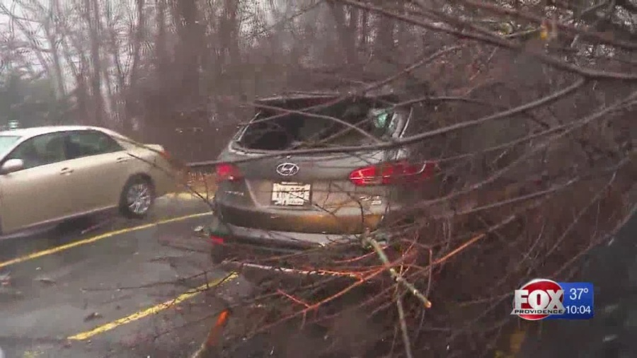 Storm leaves behind power outages, damaged property