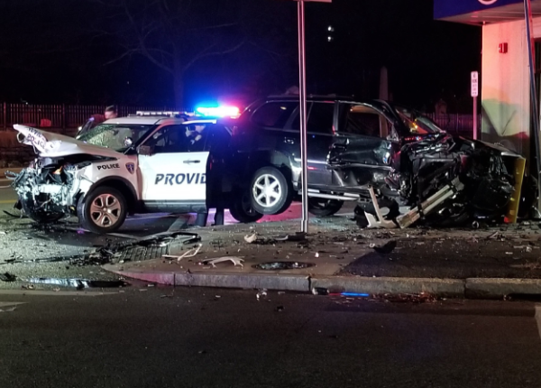 providence police cruiser crash