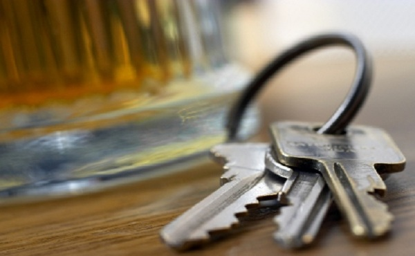 Drunk driving drinking beer keys