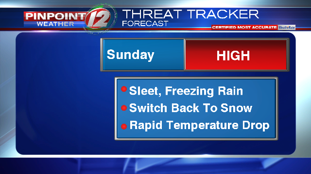 Winter Storm Expected Sat  Night Into Sunday