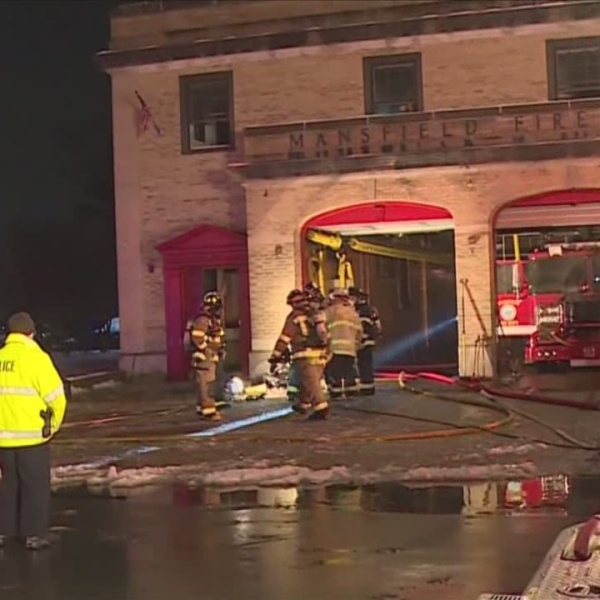 Mansfield Fire Station Damaged in Fire
