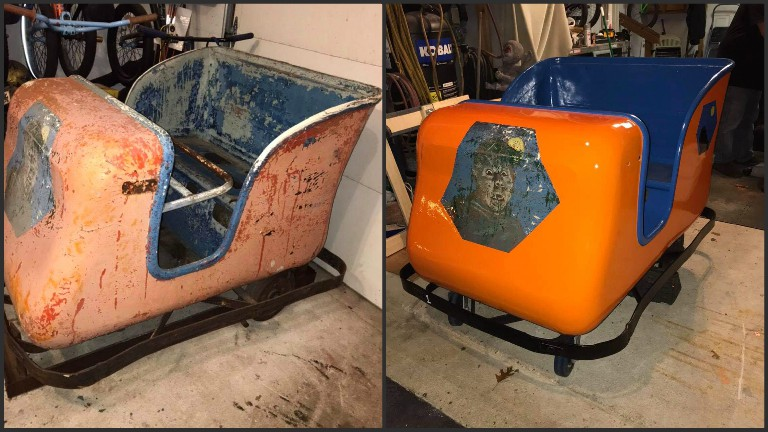Rocky Point horror car before and after