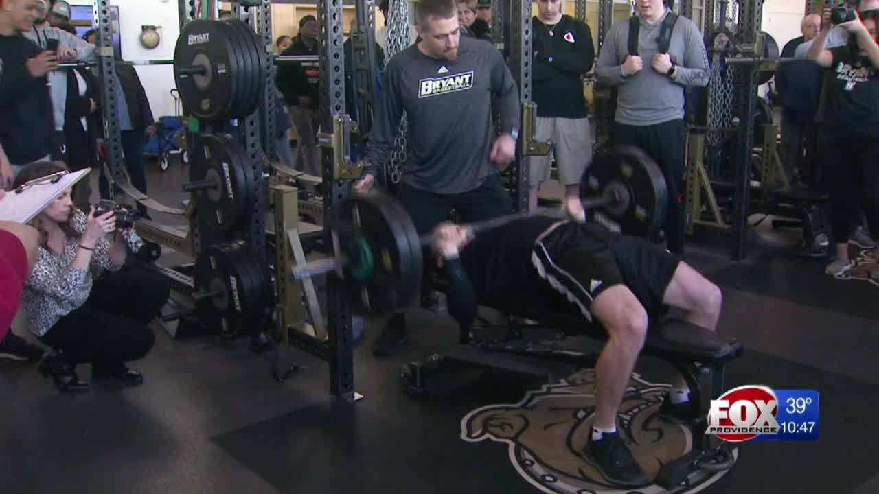 Local college football players take part in Pro Day at Bryant