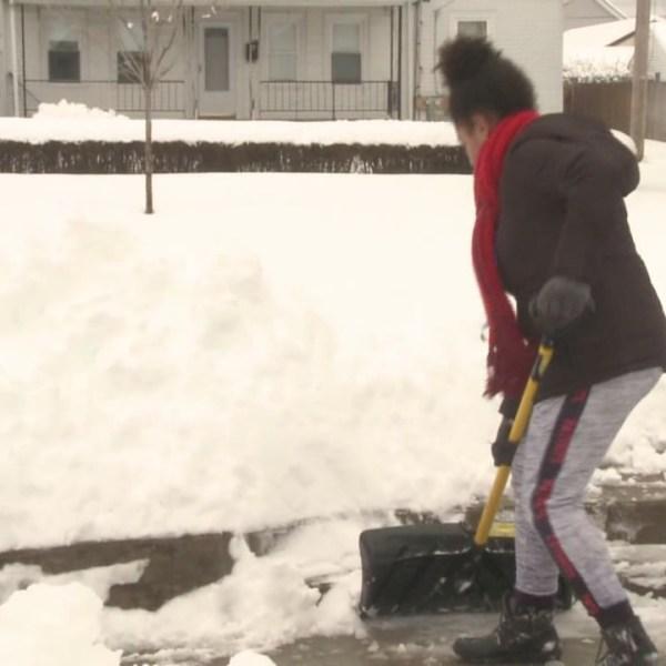 Youth Volunteers Help Seniors by Shoveling Snow