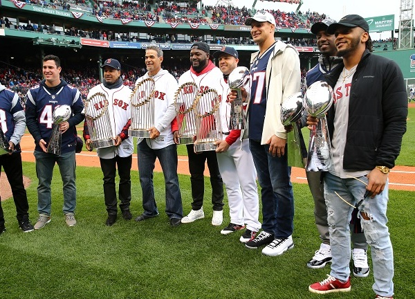 Red Sox, Patriots celebrate titles ahead of home opener at Fenway
