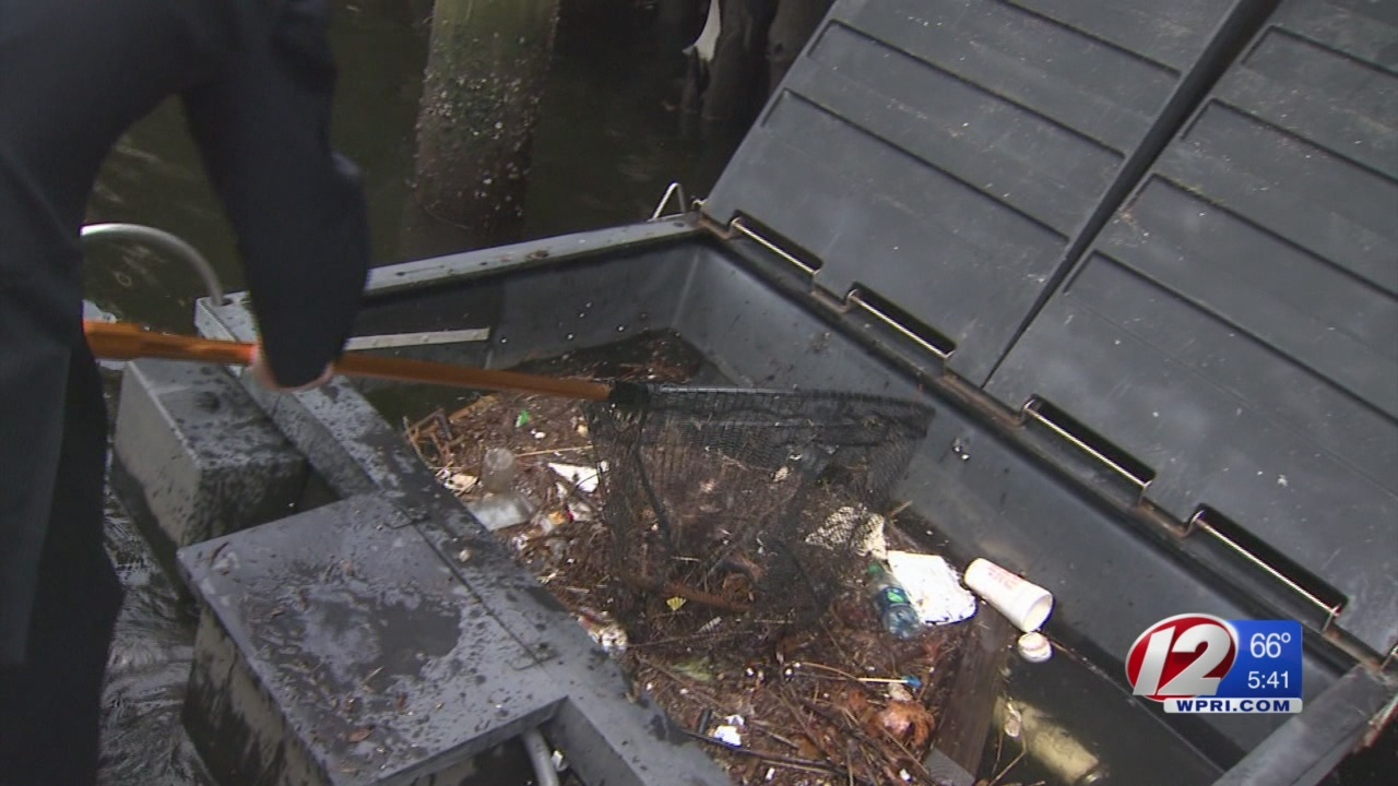 New skimmer taking out the trash in Providence River Marina