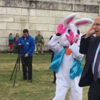 Video Now: Bomb Squad's beeping Easter egg hunt