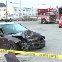 Video Now: Fall River crash injures 2
