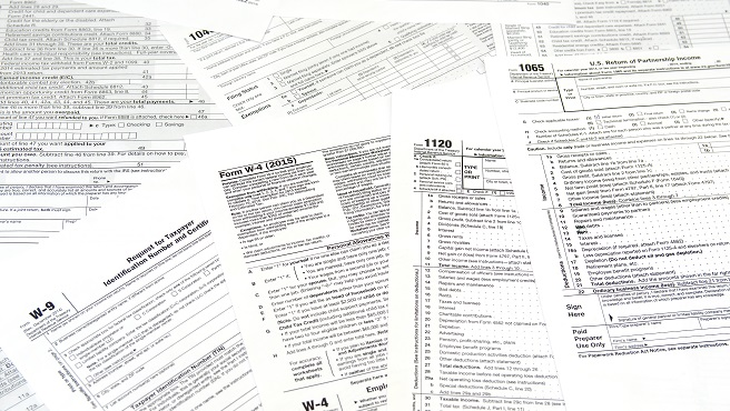 various blank USA tax return forms_651704
