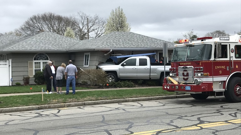 New Bedford crash into home Ashley Boulevard