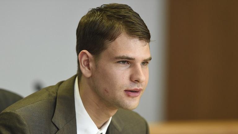 Nathan Carman in court slain millionaire case