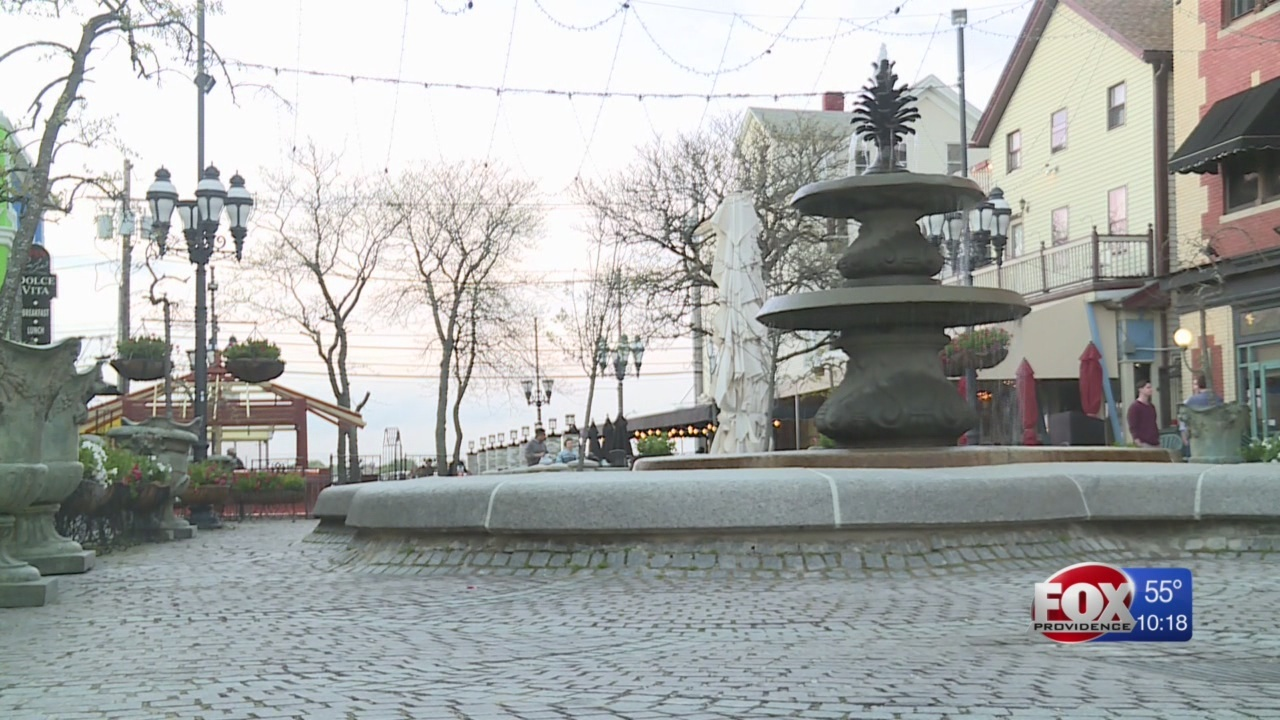 Federal Hill fountain temporarily repaired