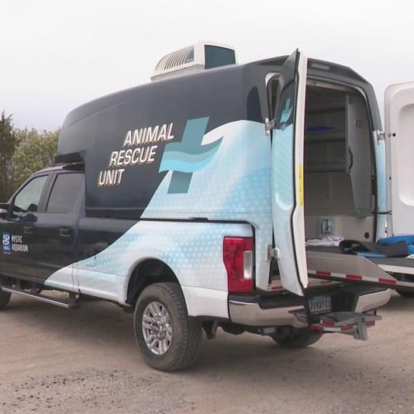 Mystic Aquarium team trains with new off-road response vehicle