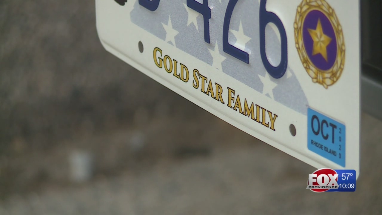 RI DMV accepting applications for special Gold Star Family license plates
