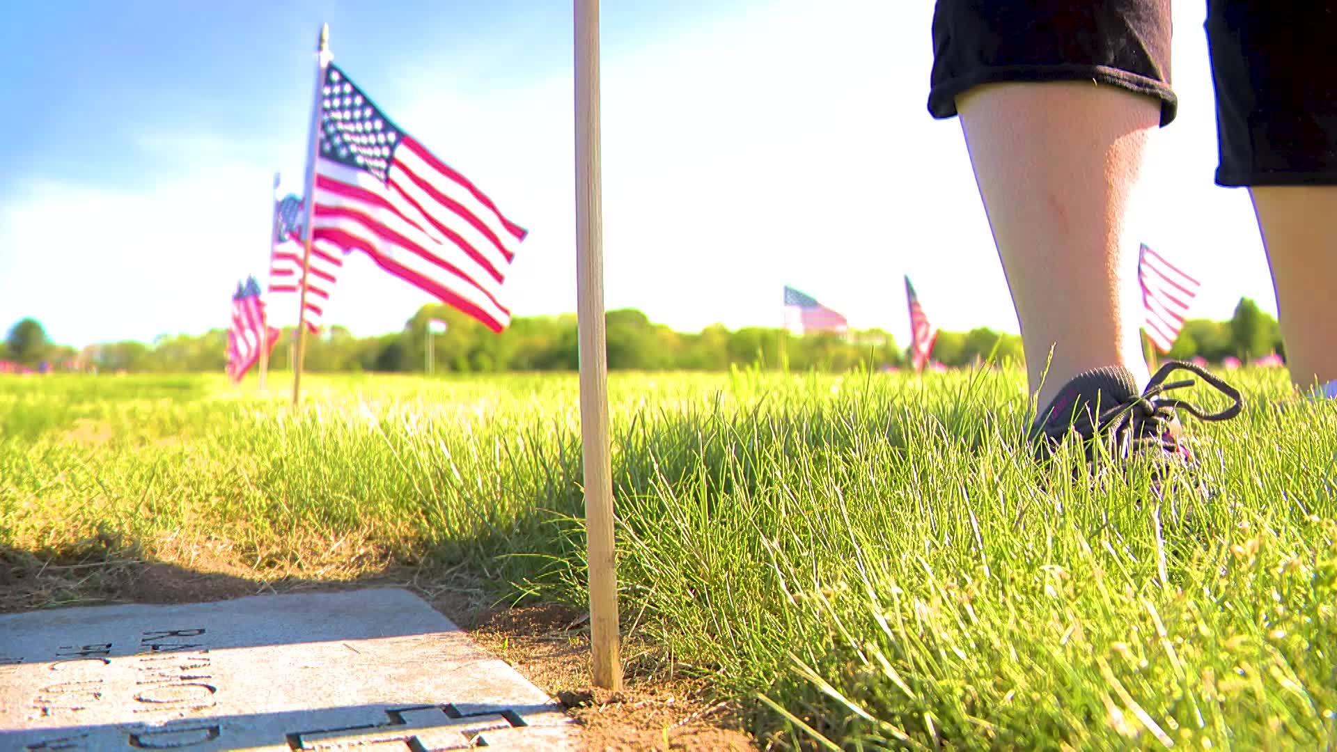 Video Now: Veterans Cemetery Flags