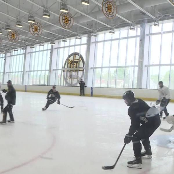 Video Now: Bruins practice Monday