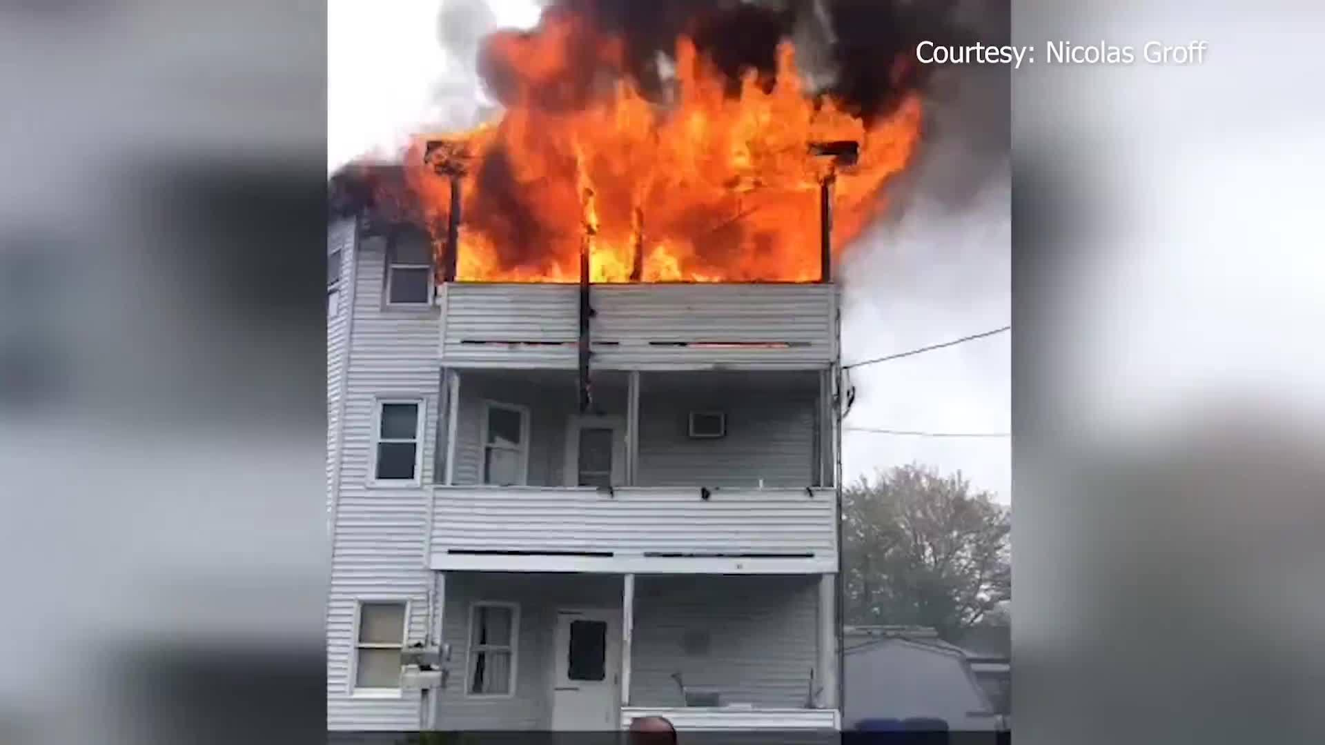 Video Now: Fire Damages West Warwick Triple-Decker