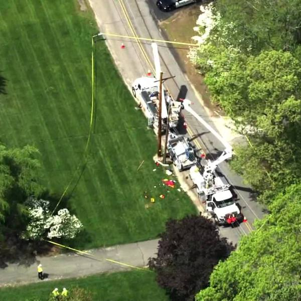 Video Now: Utility worker falls out of bucket truck