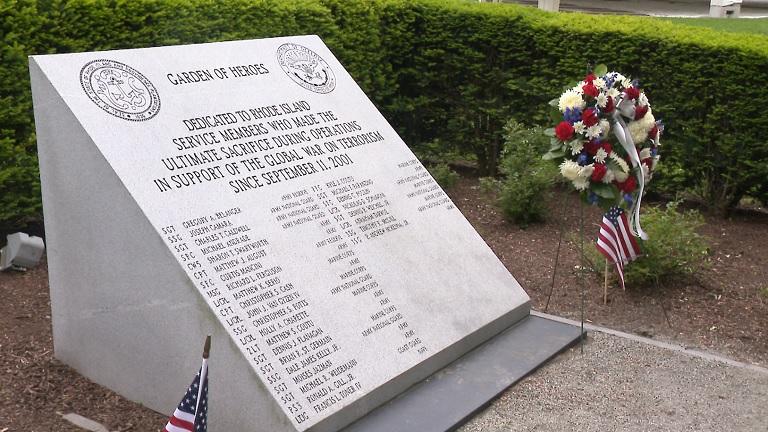 RI Garden of Heroes memorial
