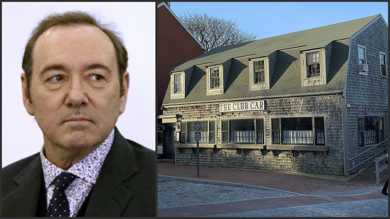 Kevin Spacey and Club Car Restaurant