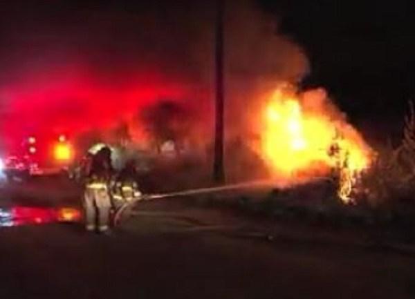 Fiery crash in Uxbridge sends 2 to hospital