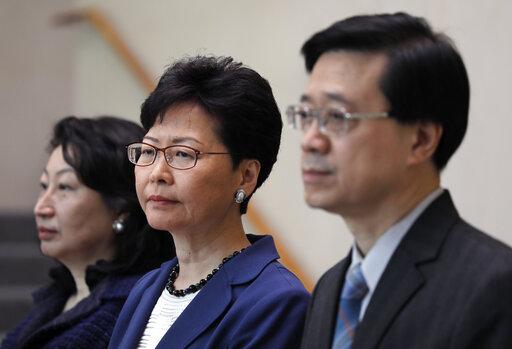 Carrie Lam, Teresa Cheng, John Lee