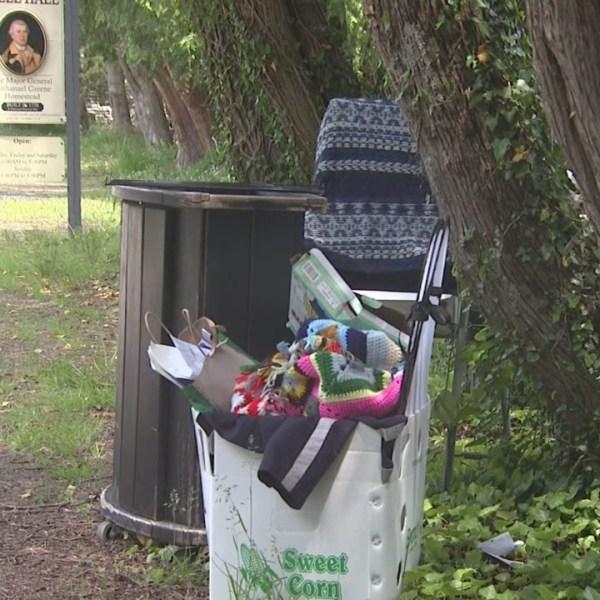 Trash dumped at war hero's historic home