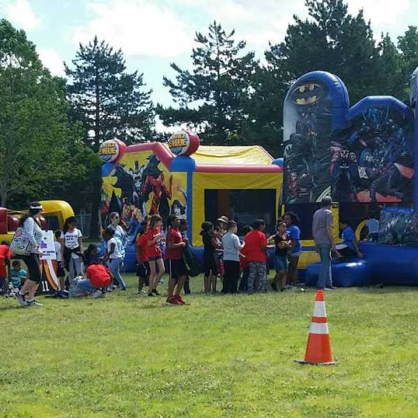 Bounce Castle at Veazie St Field day