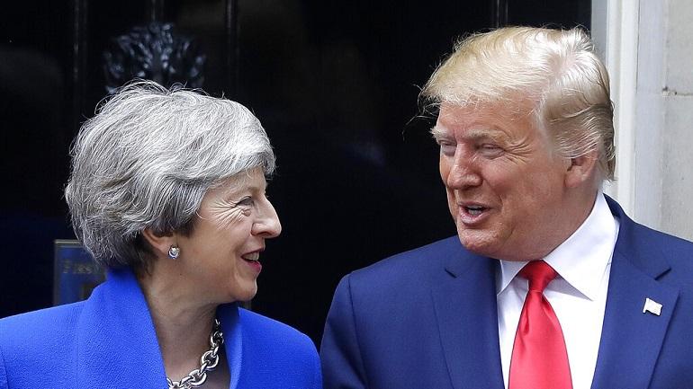 APTOPIX Britain Trump_1559653549422