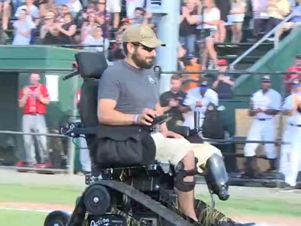 Amy Veteran Brandon Deaton recieves life-changing wheelchair