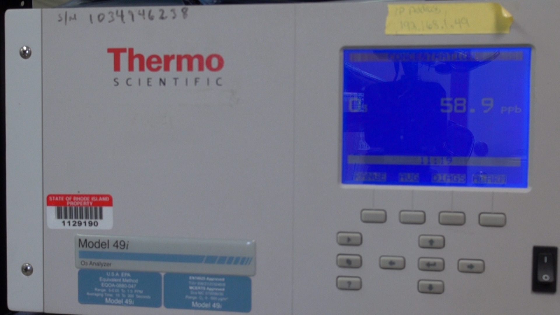 RIDEM monitoring ozone